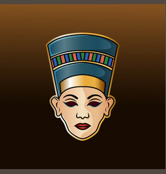 nefertiti head esport mascot logo vector image