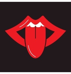 Open mouth sticking vector image