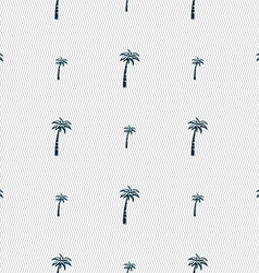 Palm sign Seamless pattern with geometric texture vector image