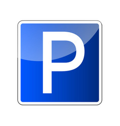 Parking road sign blank parking place sign for vector