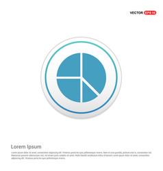 Pie chart - white circle button vector