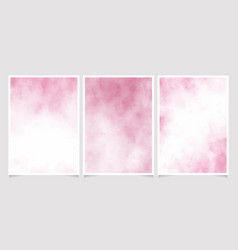 pink wet paper watercolor background for wedding vector image