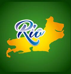 Rio design vector