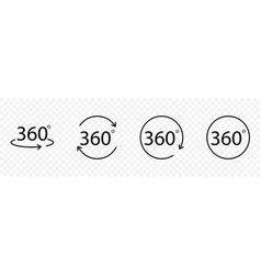 set of 360 degrees icons vector image