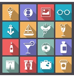 Set of recreation icons in flat design vector