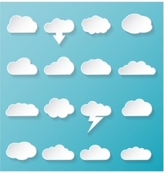Shiny White Cloud Icons vector image