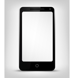 Smartphone with white screen vector image