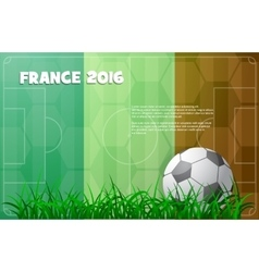 Soccer theme with ball and France flag vector image