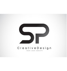 Sp s p letter logo design creative icon modern vector