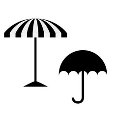 Umbrella and sunshade on white background vector