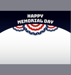 usa memorial day background vector image