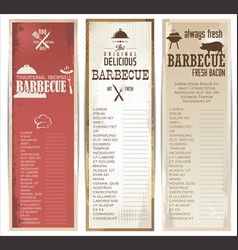 vintage barbecue retro banner collection vector image