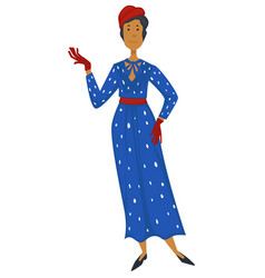 Woman in 1930s clothes vintage 1960s fashion vector