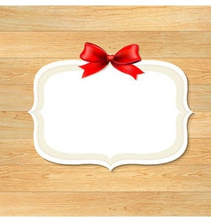 Wood Wall With Red Bow vector