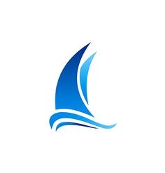 Yacht boat marine sailing logo vector