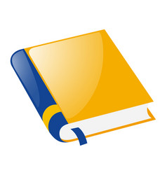 Yellow book on white background vector