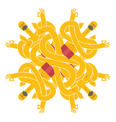 Yogi pattern emblem for yoga school indian yoga vector