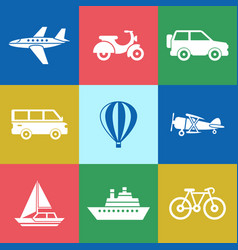 digital red green blue travel vector image