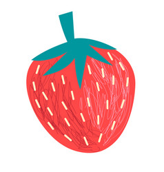 graphics big tasty strawberry berry vector image vector image