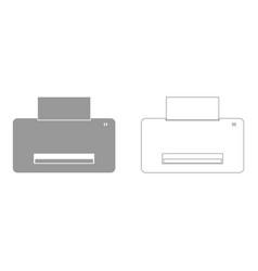 printer set icon vector image vector image
