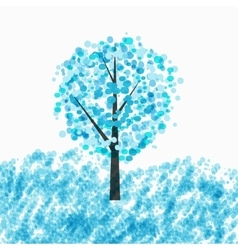 Abstract Beautiful Winter Tree Background vector image vector image