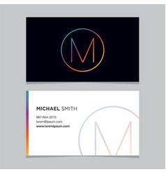 Business-card-letter-m vector