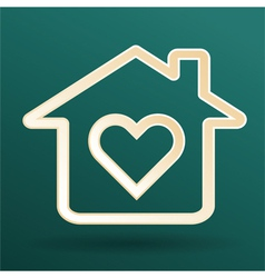 home heart love vector image