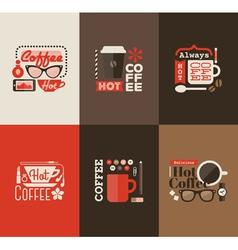 Hot coffee Set of design elements vector image vector image