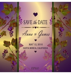Modern wedding invitation card vector image