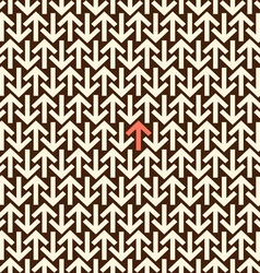 Arrows seamless background vector image vector image