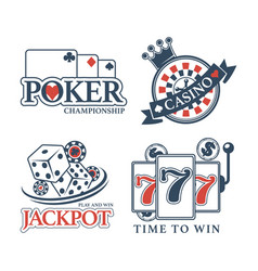 poker championship at casino isolated promotional vector image vector image