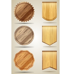 Set of wood elements for design vector image vector image