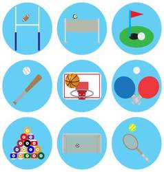 Sport game with ball vector image