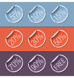 Stickers with Discounts vector image vector image