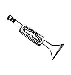 trumphet musical instrument icon vector image