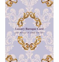 vintage baroque card background vector image
