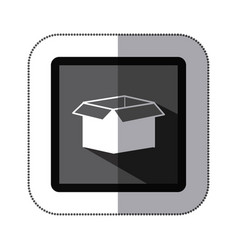 contour box open icon vector image