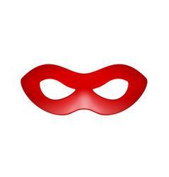 Eye mask in red design vector