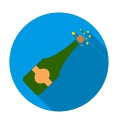 Opening of champagne icon in flat style isolated vector image