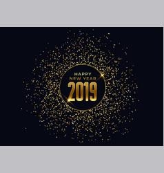 2019 happy new year celebration background vector image