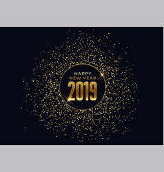 2019 happy new year celebration background with vector