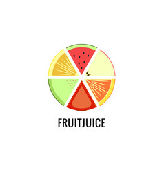 a set different fruits for logo fruit vector image