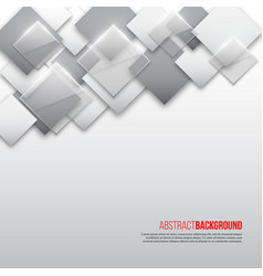 abstract square background with grey white and vector image