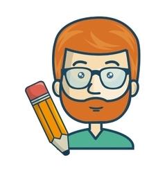 avatar man cartoon vector image
