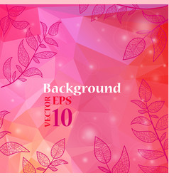 background with branches and leaves vector image