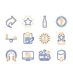 balance rank star and headhunter icons set vector image