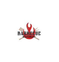 Bbq barbecue logo design simple minimalist vector