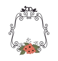 Beautiful floral frame decoration vector