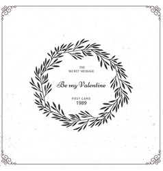 beautiful wreath isolated on white background vector image