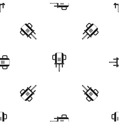 Boer drill pattern seamless black vector